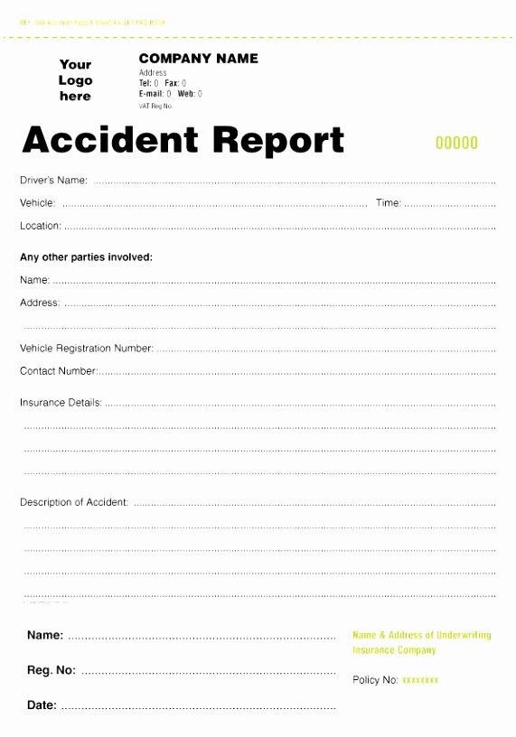 Accident Report form Pdf Unique 5 Accident Report form Template Uk Oteuo