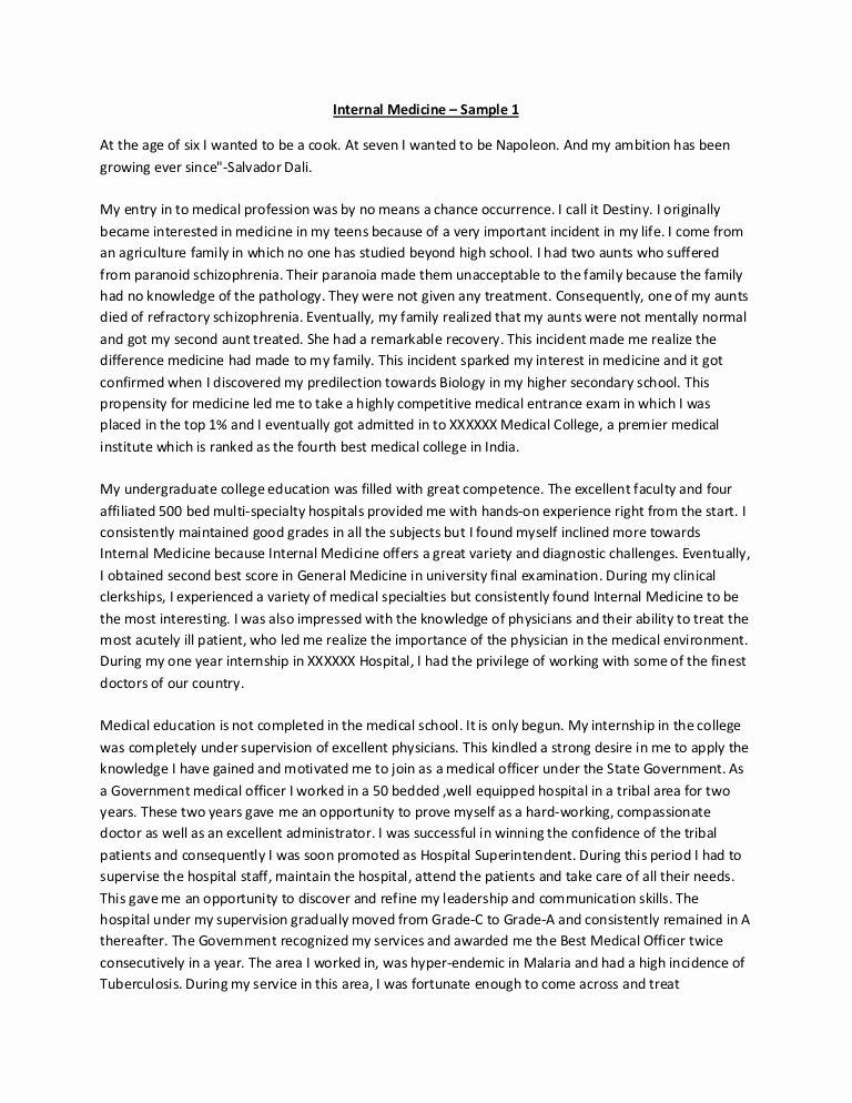 Accounting Career Goals Essay Elegant Internal Medicine Personal Statement