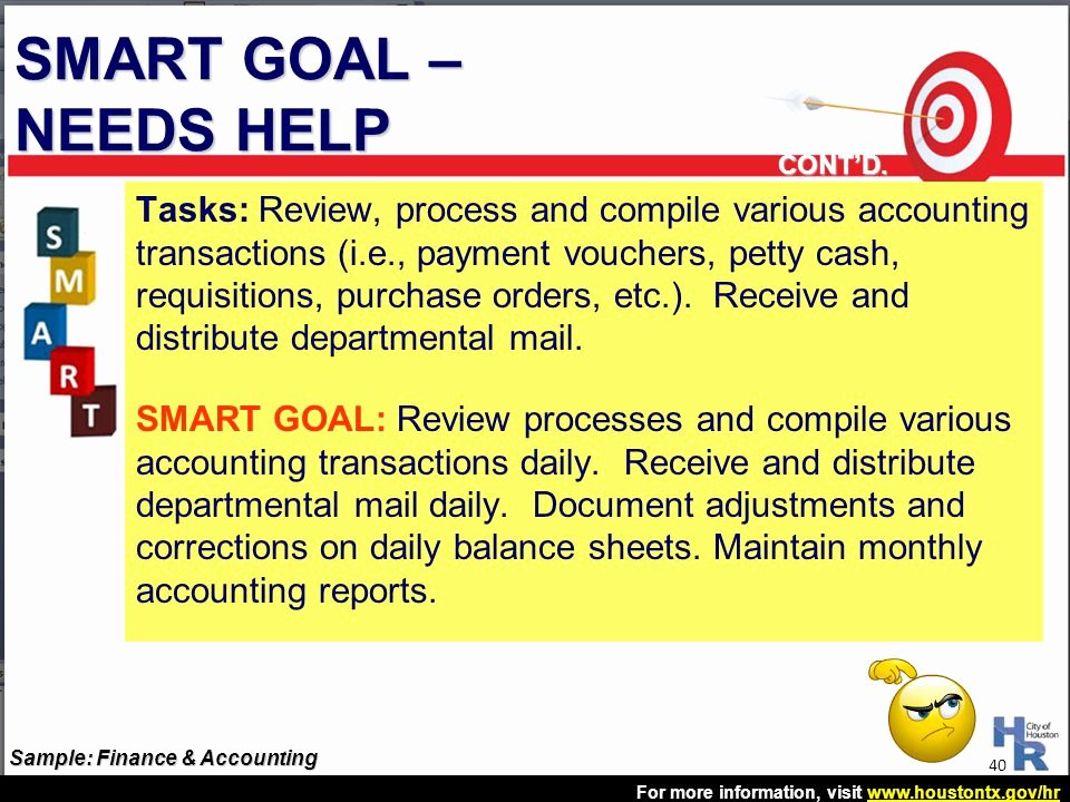 Accounting Career Goals Essay Fresh Houston Employee assessment and Review Hear Process