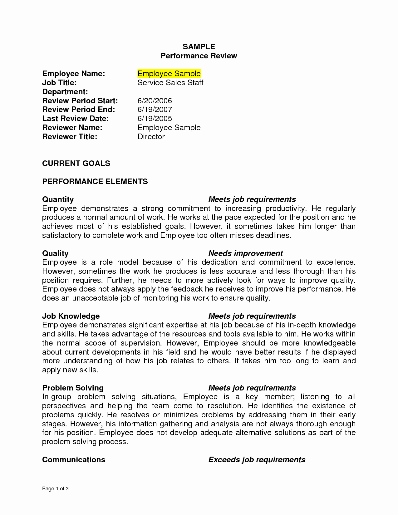 Accounting Career Goals Essay Inspirational Sample Performance Review Sample Performance Review