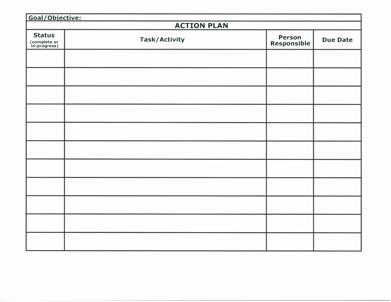 Action Log Template Inspirational Stunning General Action Plan Template Word Examples Thogati