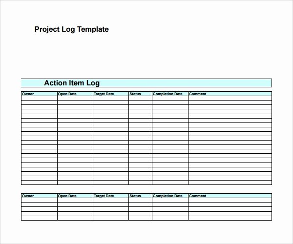 Action Log Template Unique Sample Action Log Template 8 Free Documents In Pdf