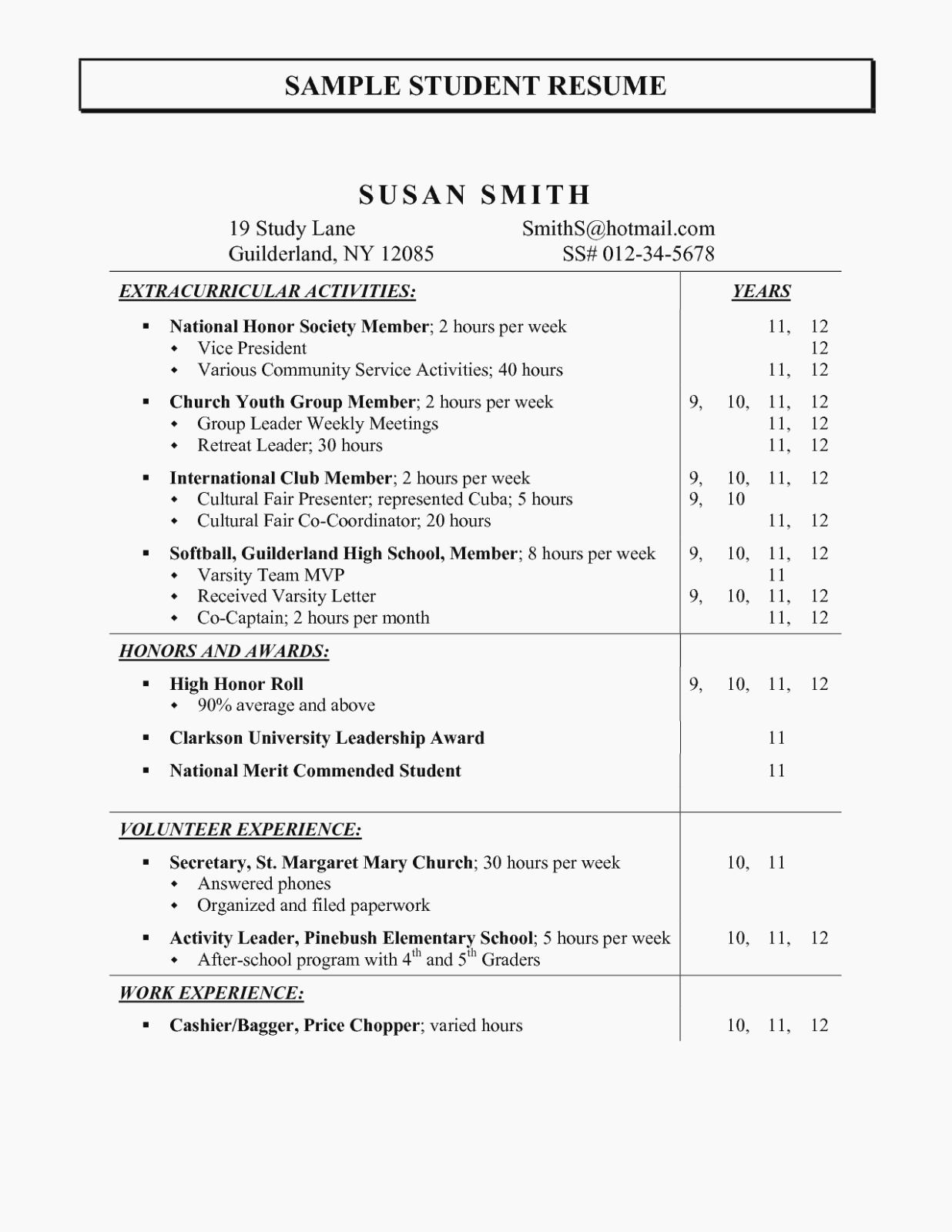 Activities Resume Template Inspirational Activities for Resume Valid Extracurricular Sample