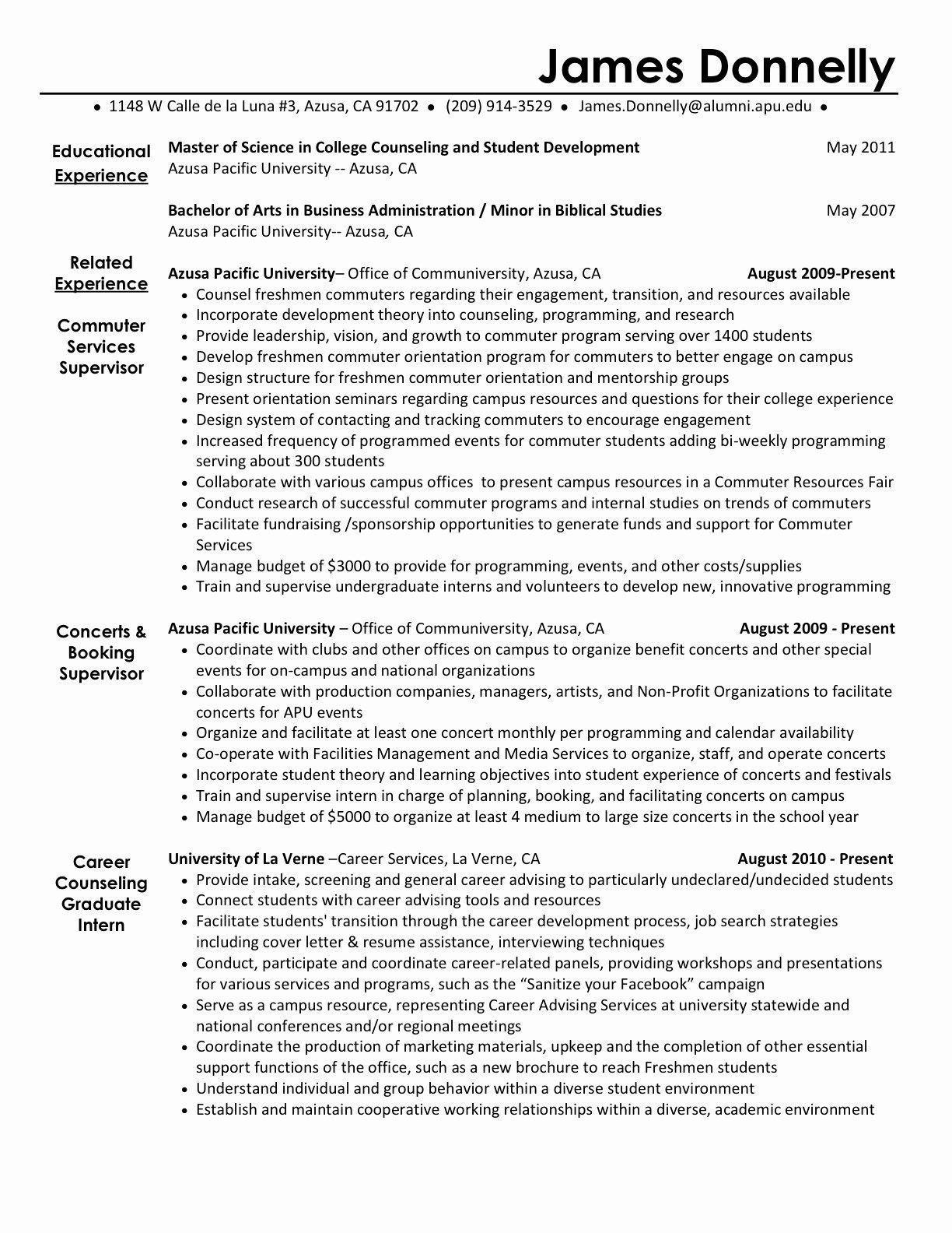 Activities Resume Template New Activities Resume