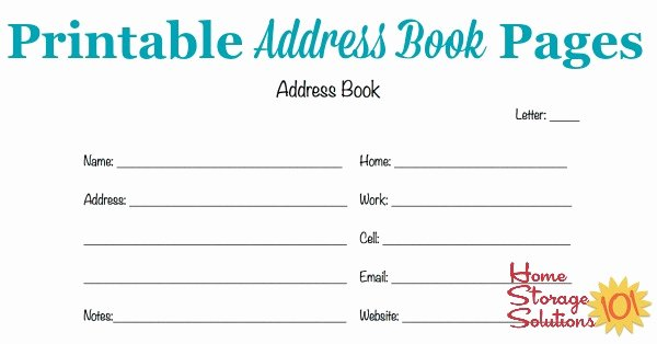 Address Book Template Free Awesome Free Printable Address Book Pages Get Your Contact