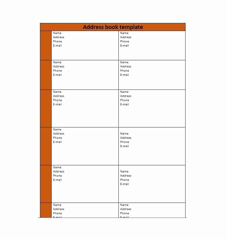 Address Book Template Free Beautiful 40 Printable & Editable Address Book Templates [ Free]