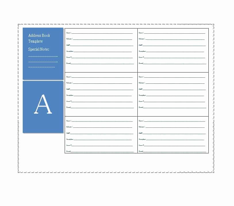 Address Book Template Free Lovely 40 Printable & Editable Address Book Templates [ Free]