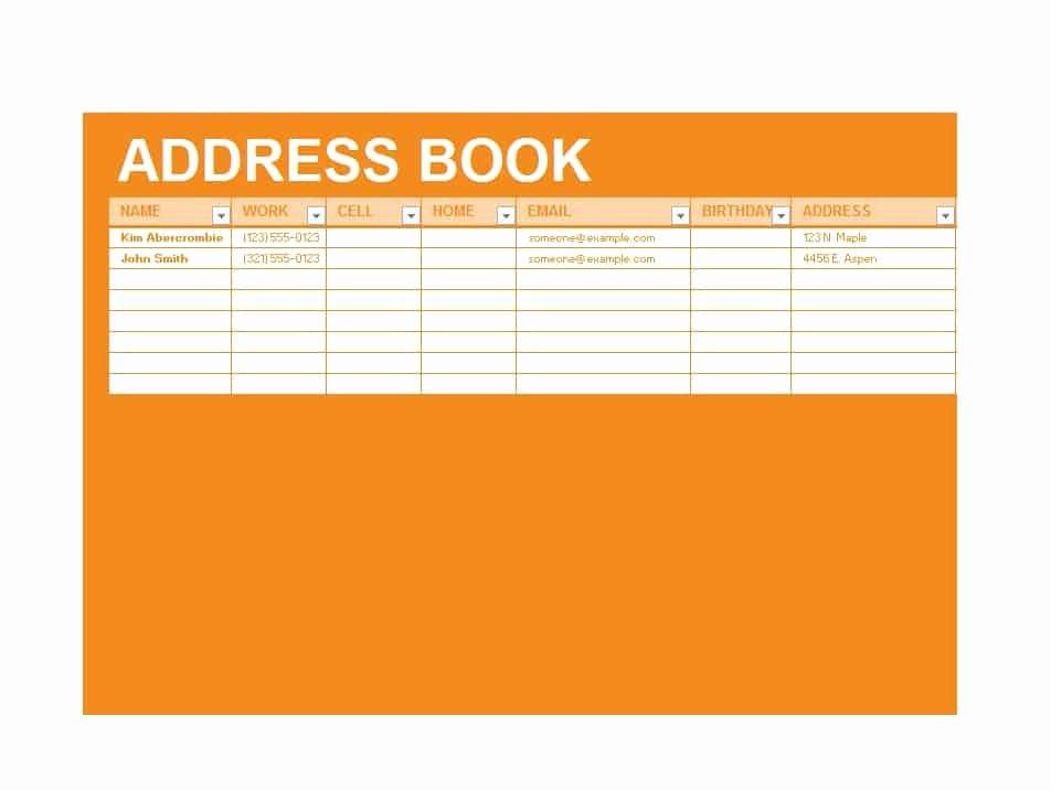 Address Book Template Free Unique 40 Printable & Editable Address Book Templates [ Free]