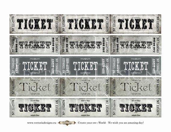 Admit One Ticket Printable Beautiful Printable Vintage Tickets Strips Admit One Coupon Printable