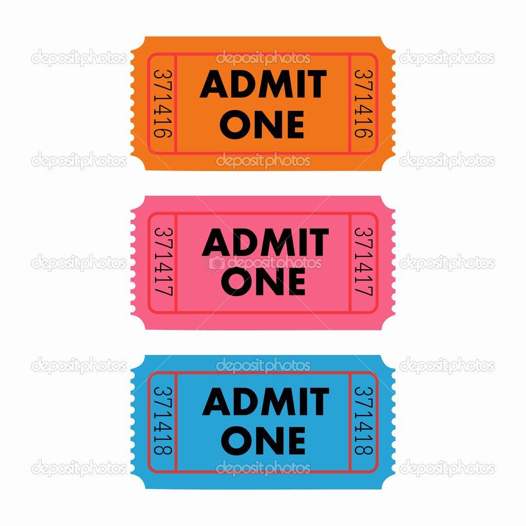 Admit One Ticket Printable Elegant Admit One Ticket Template Free Printable
