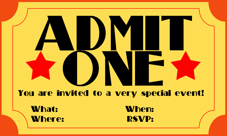 Admit One Ticket Printable Fresh Free Printable Admit E Ticket Template Clipart Best