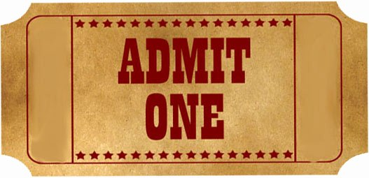 Admit One Ticket Printable Lovely Admit E