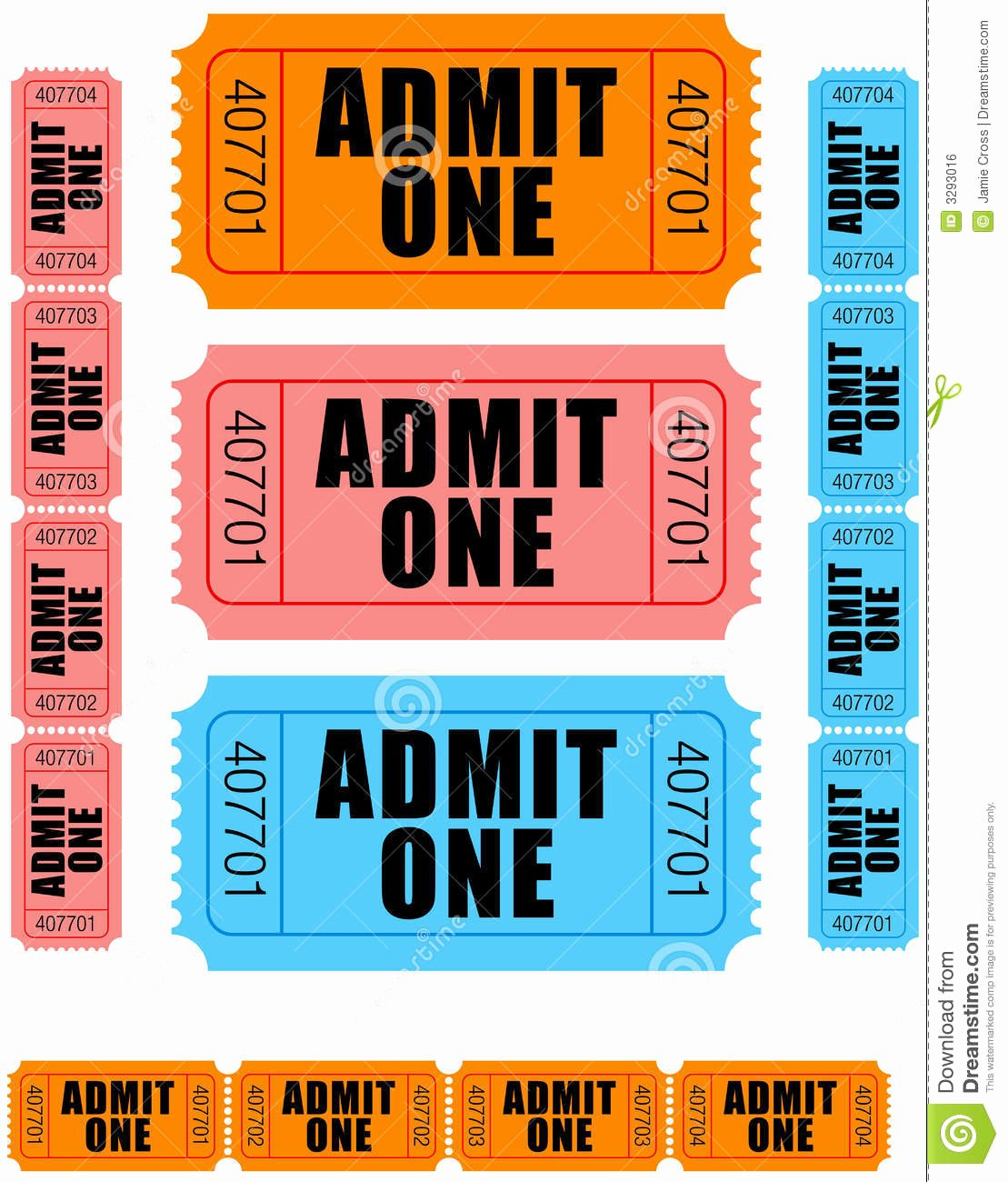Admit One Ticket Printable New Admit E Tickets 1 Royalty Free Stock Image Image