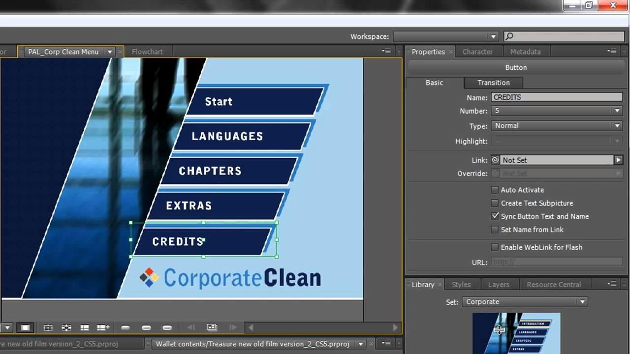 Adobe Encore Templates Awesome Adobe Encore Basics 2 Creating Menus