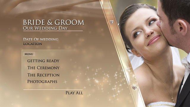 Adobe Encore Templates Beautiful Digital Video Team Gold Wedding Dvd Menu