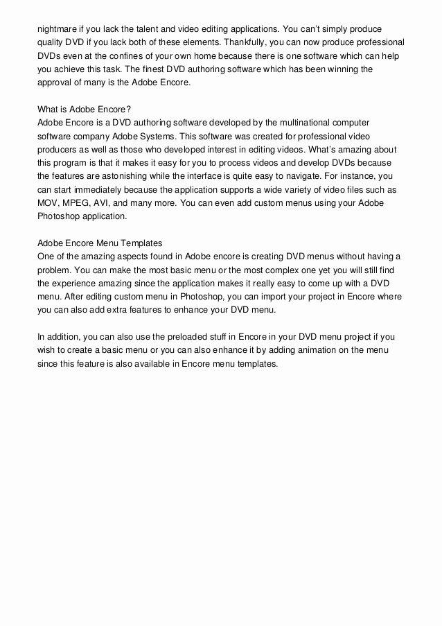 Adobe Encore Templates Best Of Encore Menu Templates Adobe Encore Templates—an Upgrade