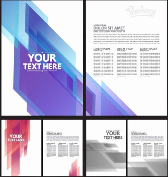 Adobe Illustrator Brochure Template Beautiful Brochure Template Free Vector In Adobe Illustrator Ai