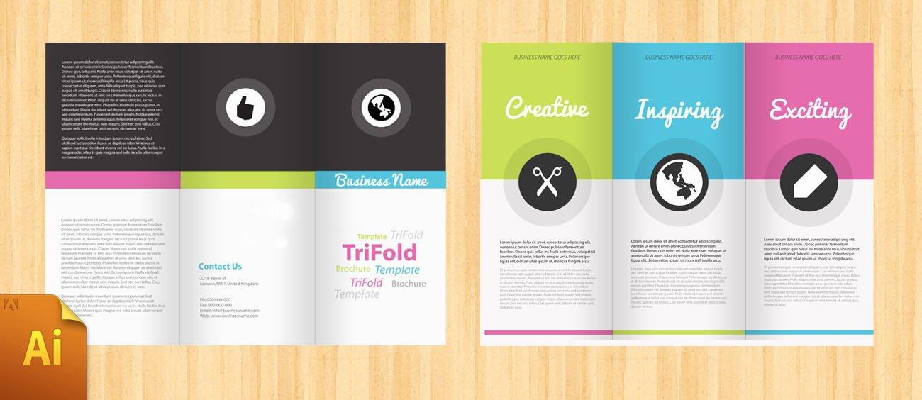 Adobe Illustrator Brochure Template Inspirational Free Corporate Tri Fold Brochure Template Designbump