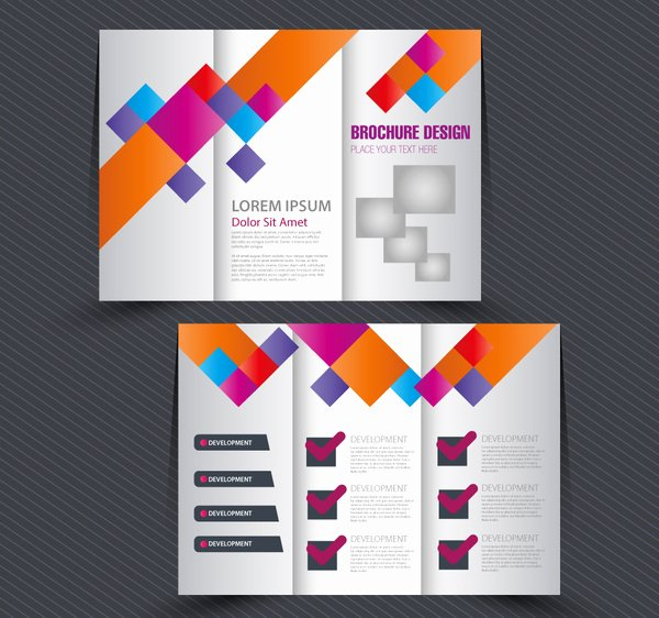 Adobe Illustrator Brochure Template Lovely Brochure Design with Trifold Colorful Template