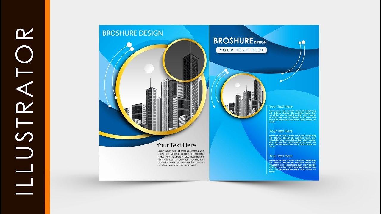 Adobe Illustrator Brochure Template New Adobe Illustrator Tutorial Create Business Brochure Two