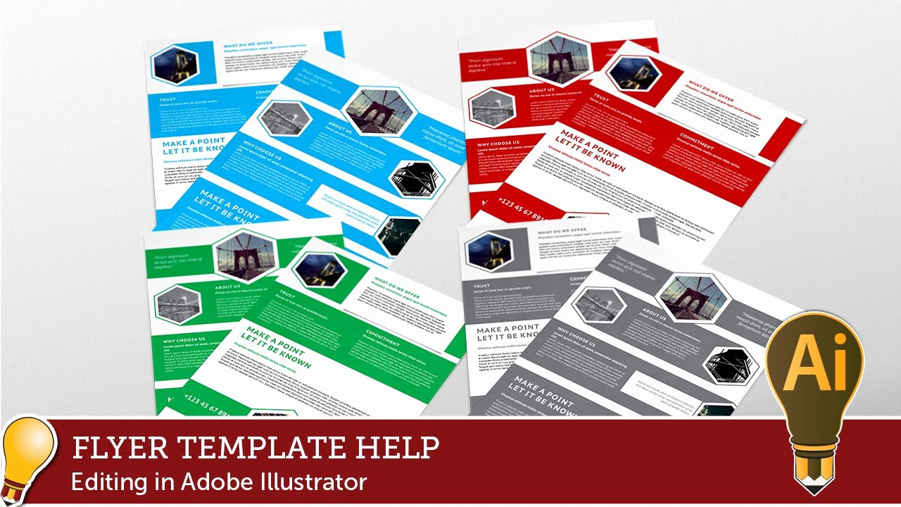 Adobe Illustrator Brochure Template New Corporate Hive Flyer Template Editing with Adobe