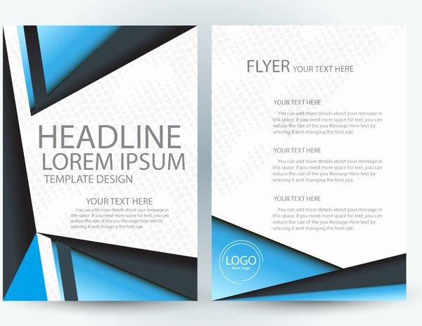 Adobe Illustrator Brochure Template Unique Adobe Illustrator Flyer Template Free Vector