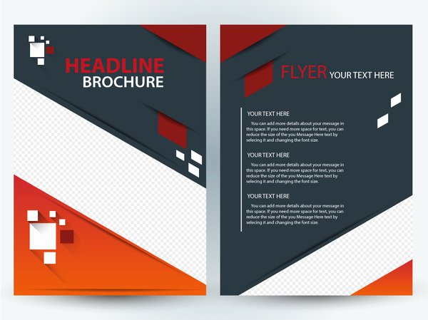 Adobe Illustrator Brochure Templates Awesome Flyer Brochure Template Design with Diagonal Illustration