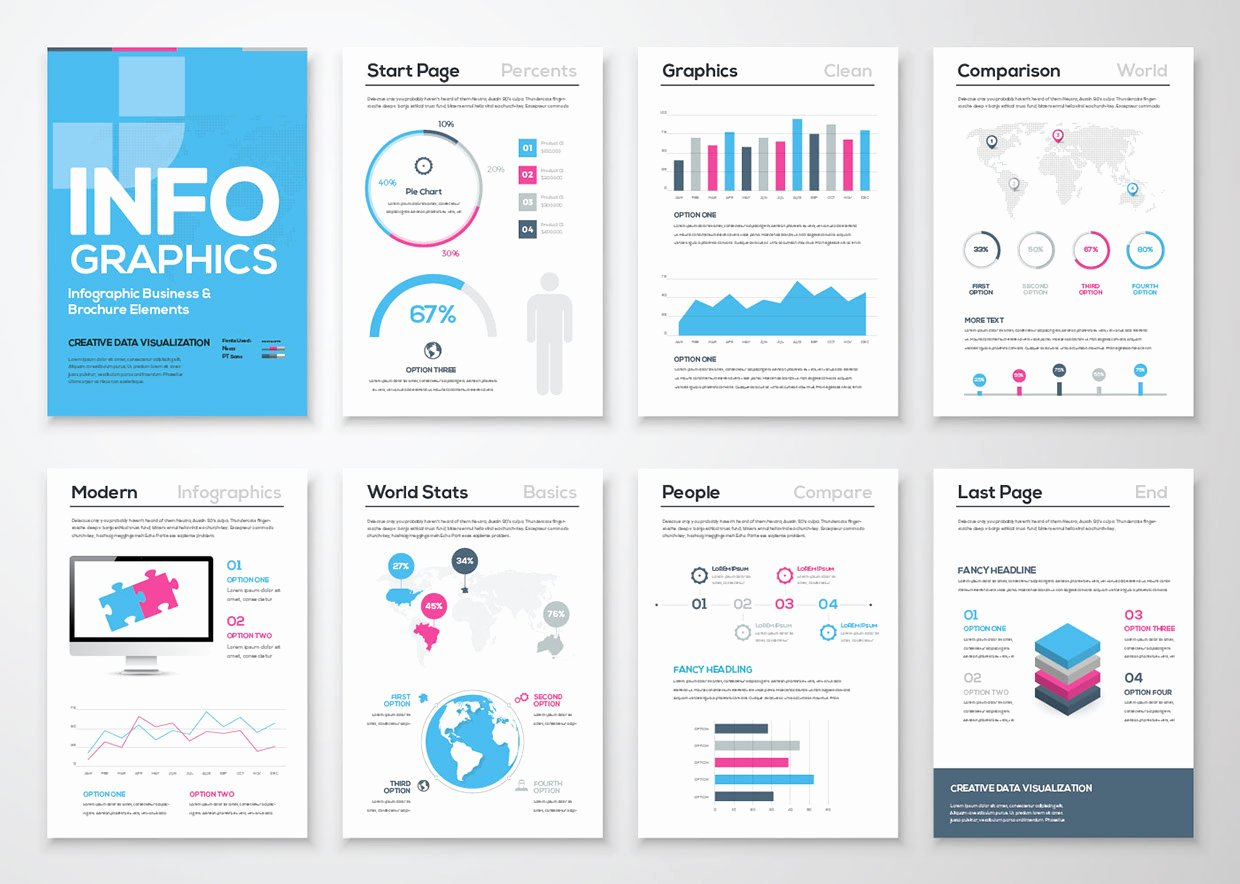 Adobe Illustrator Brochure Templates Beautiful Infographic Free Brochure Template
