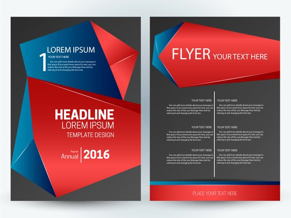 Adobe Illustrator Brochure Templates Best Of Flyer Template Design with Abstract 3d Dark Background