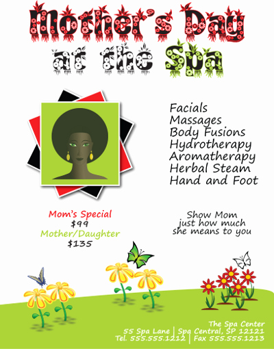 Adobe Illustrator Poster Template New Mother S Day Spa Flyer In Adobe Illustrator
