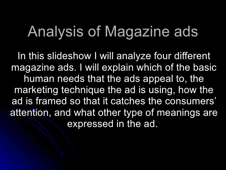 Advertisement Analysis Essay Sample Beautiful Analysis Of Magazine Ads