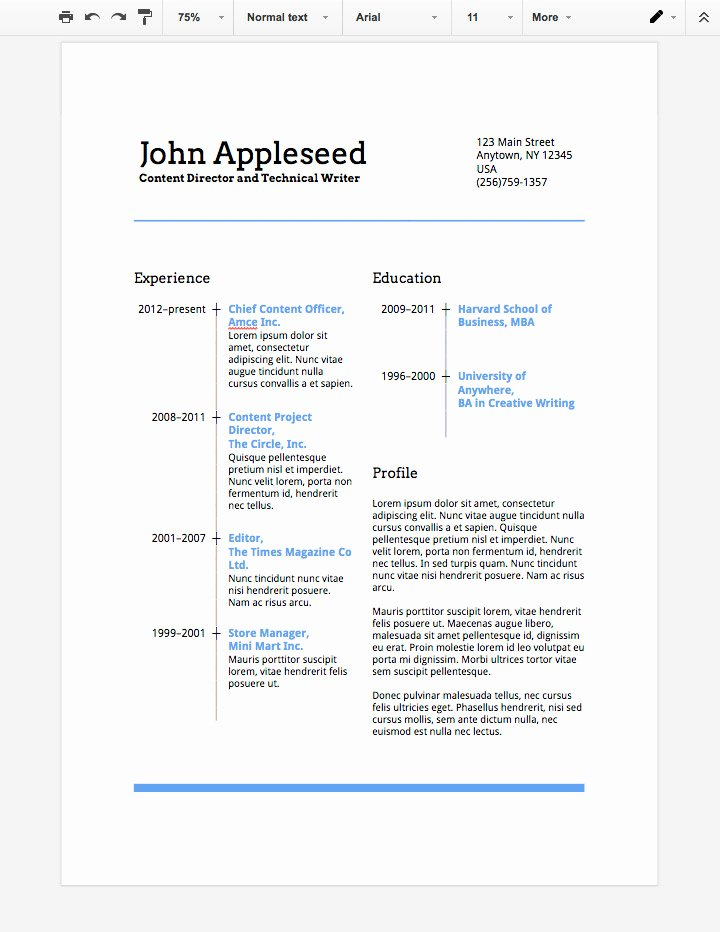 Advertisement Template Google Docs Best Of How to Make A Professional Resume In Google Docs