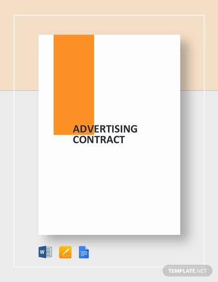 Advertisement Template Google Docs Elegant Advertising Contract Template 15 Pdf Word Google Docs