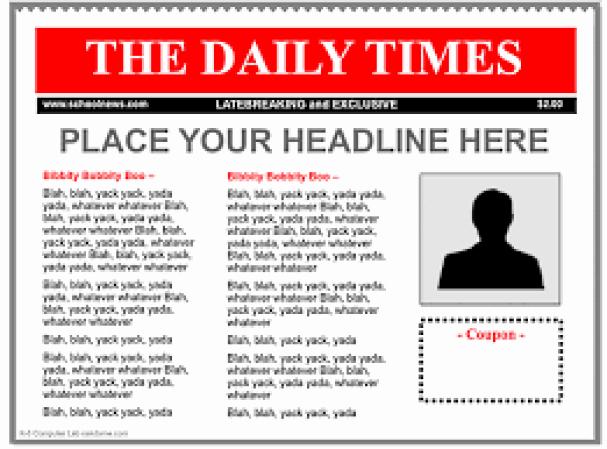 Advertisement Template Google Docs Inspirational 9 Newspaper Templates Word Excel Pdf formats