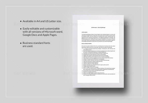 Advertisement Template Google Docs Lovely 48 Hr Job Description Templates Hr Templates