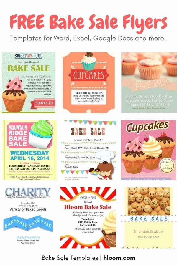 Advertisement Template Google Docs Luxury the 25 Best Bake Sale Flyer Ideas On Pinterest