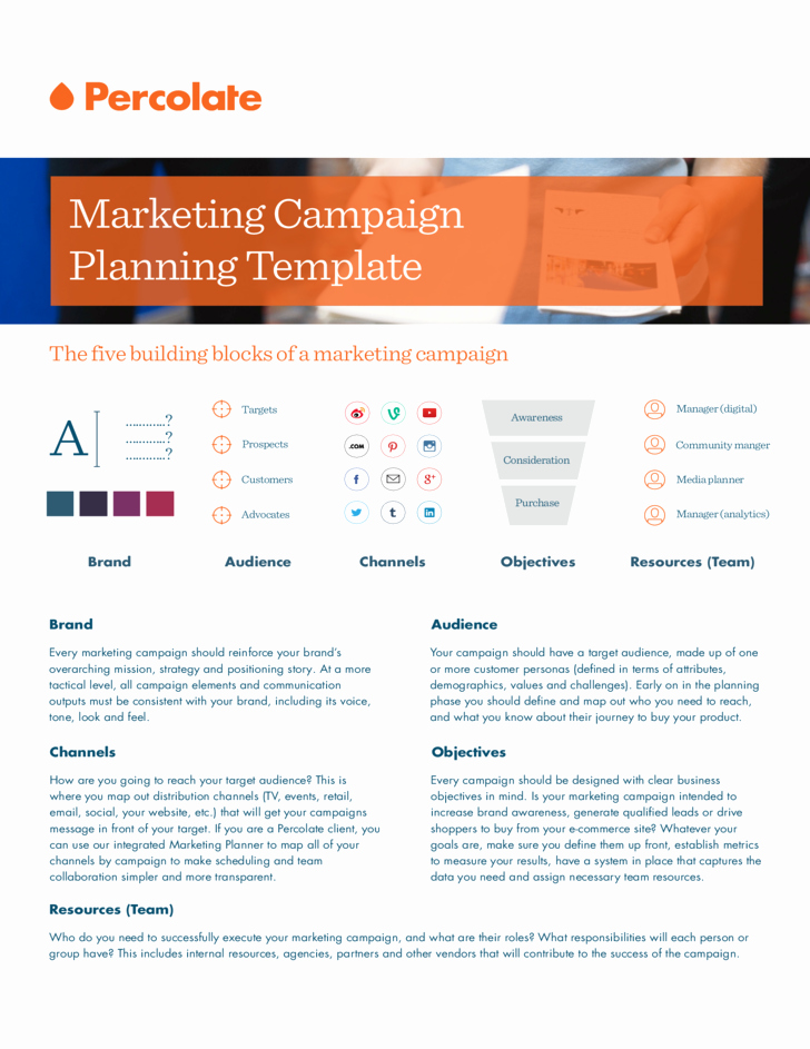 Advertising Campaign Template Best Of Marketing Campaign Template