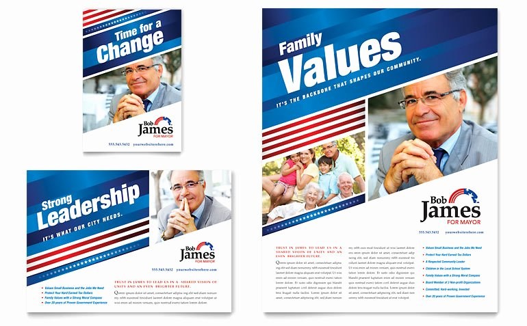 Advertising Campaign Template Elegant Political Campaign Flyer & Ad Template Word & Publisher