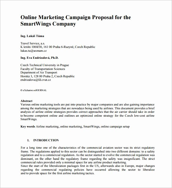 Advertising Campaign Template Unique Marketing Proposal Template 34 Free Sample Example