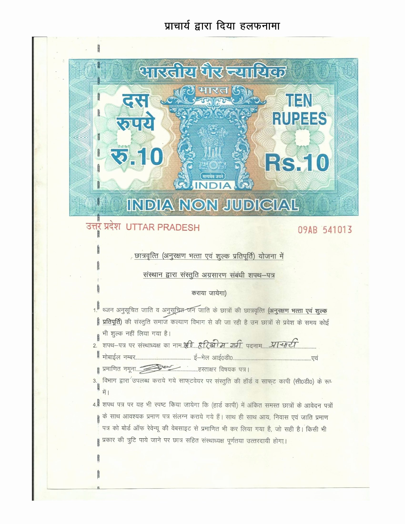 Affidavit Of Income Best Of Scan Copy Of Documents