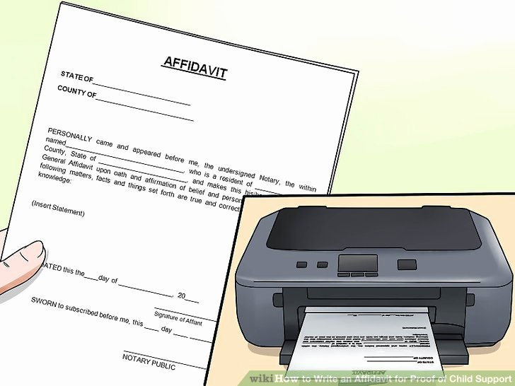 Affidavit Of Income Inspirational How to Write An Affidavit for Proof Of Child Support