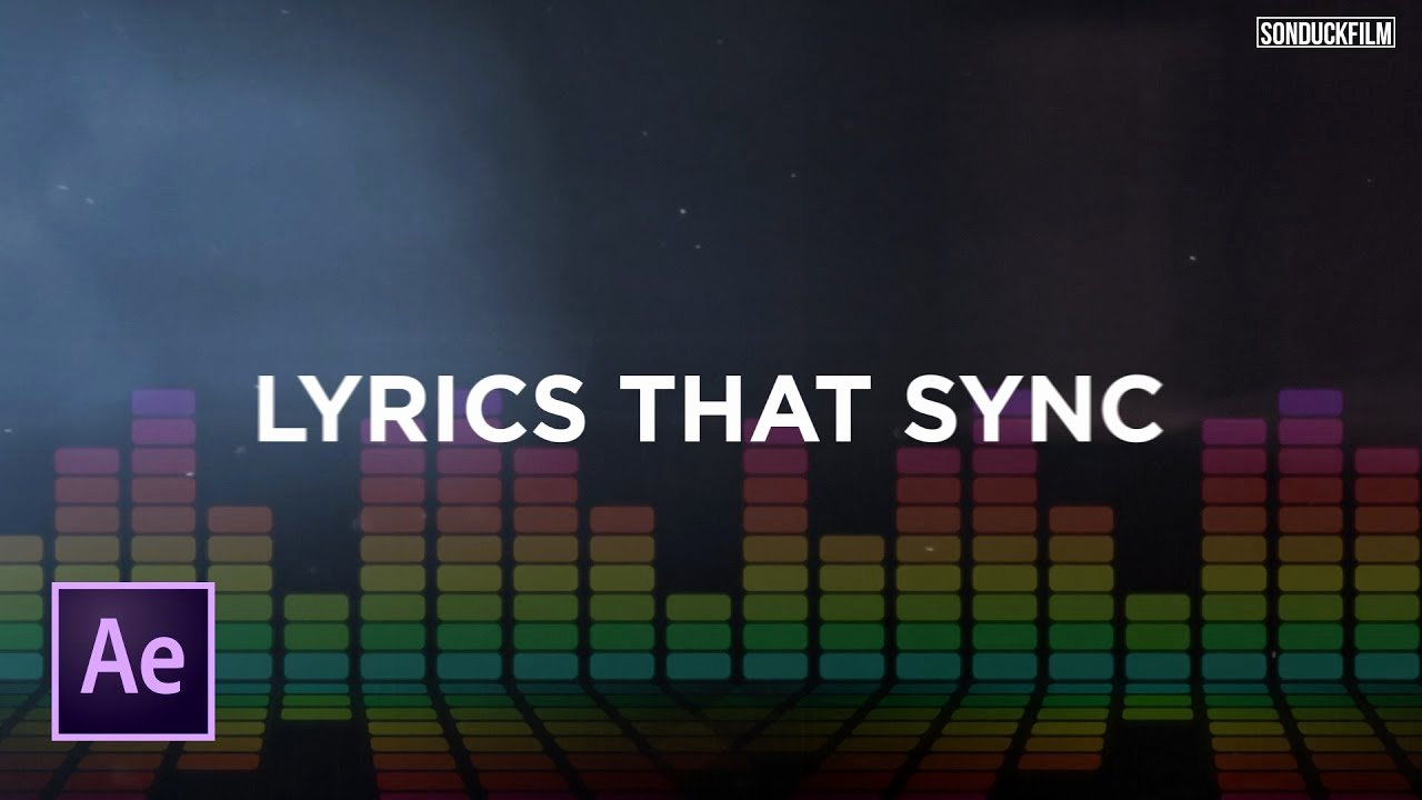 After Effects Lyric Video Best Of Sync Text to Music Create Lyric Videos