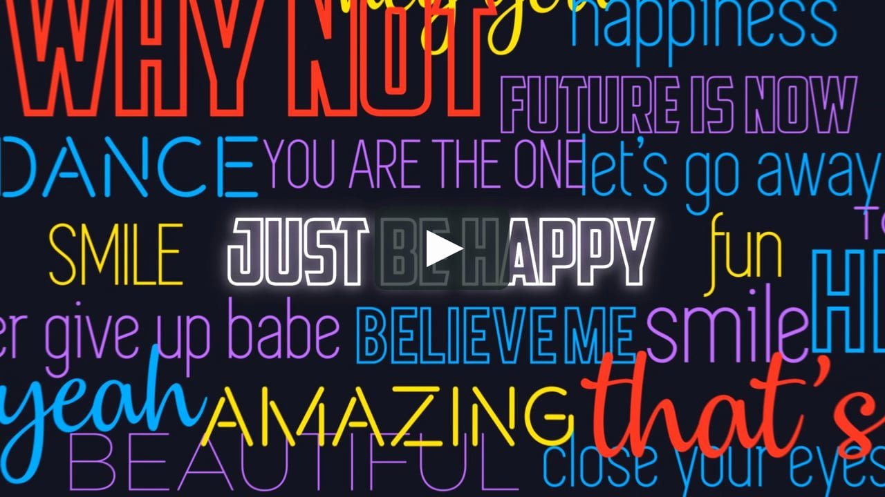 After Effects Lyric Video Elegant Lyrics and Voice Over Typography after Effects Template