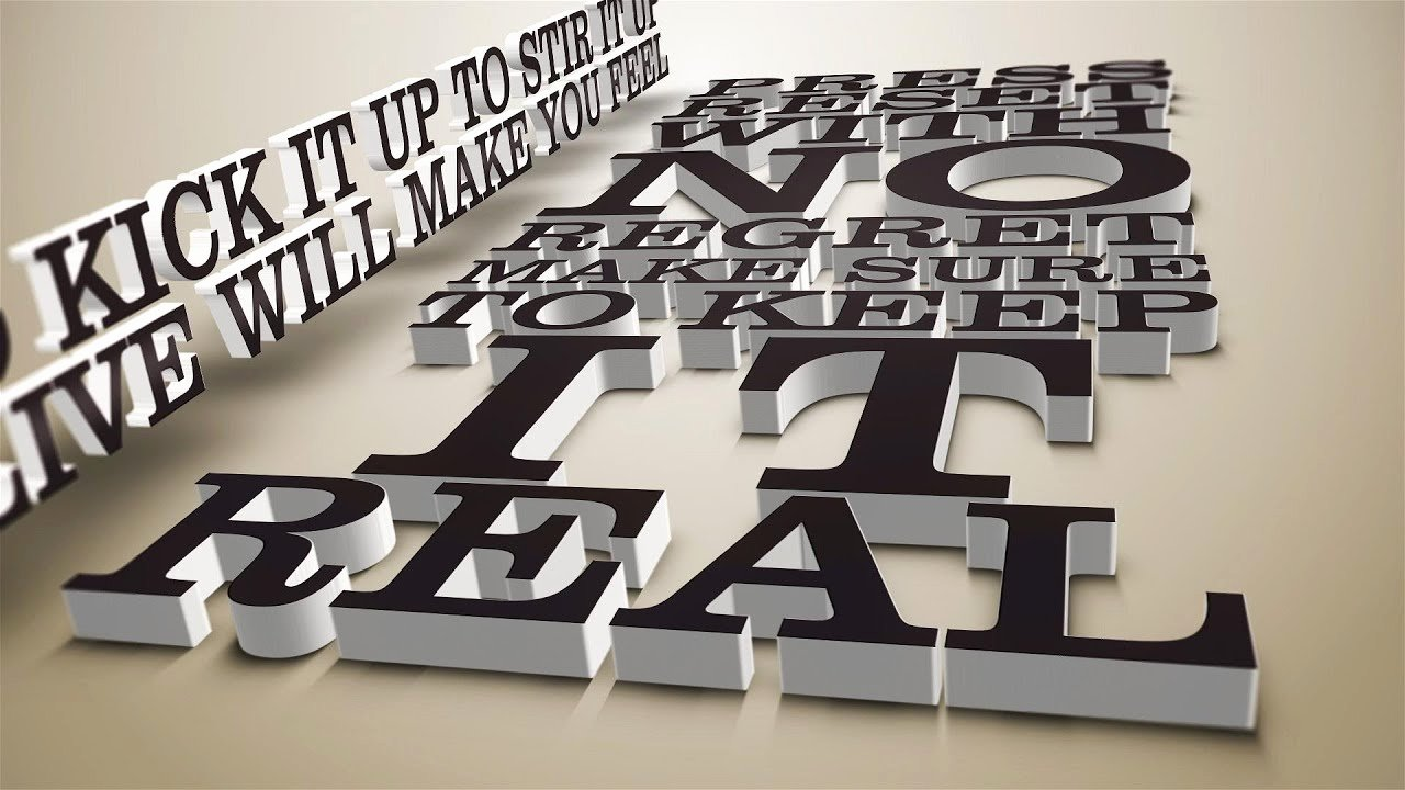 After Effects Lyric Video Luxury Kinetic Typography 3d Lyrics V1 and V2 after Effects