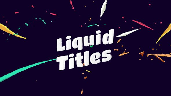 After Effects Lyric Video Template Lovely Liquid Animation Titles by Motionvids