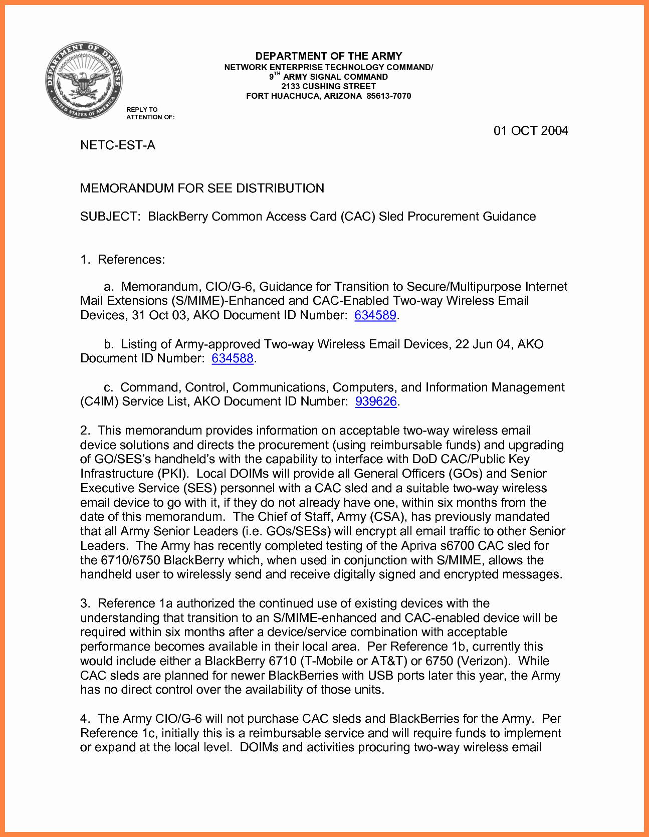 Air force Memorandum Template Fresh 10 Department Of the Air force Letterhead Template