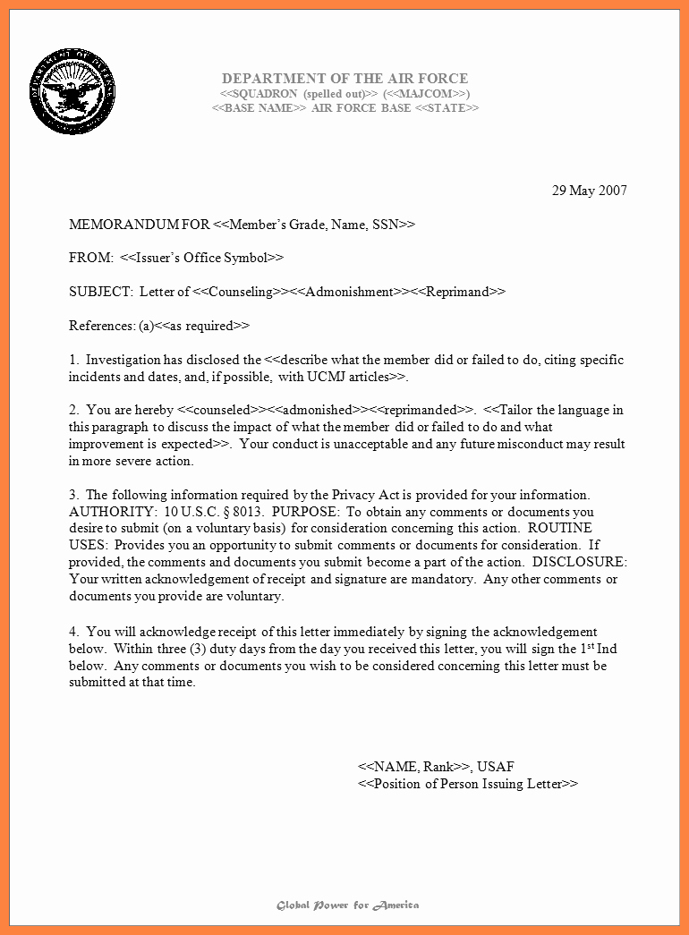 Air force Memorandum Template Inspirational 10 Air force Letterhead Template