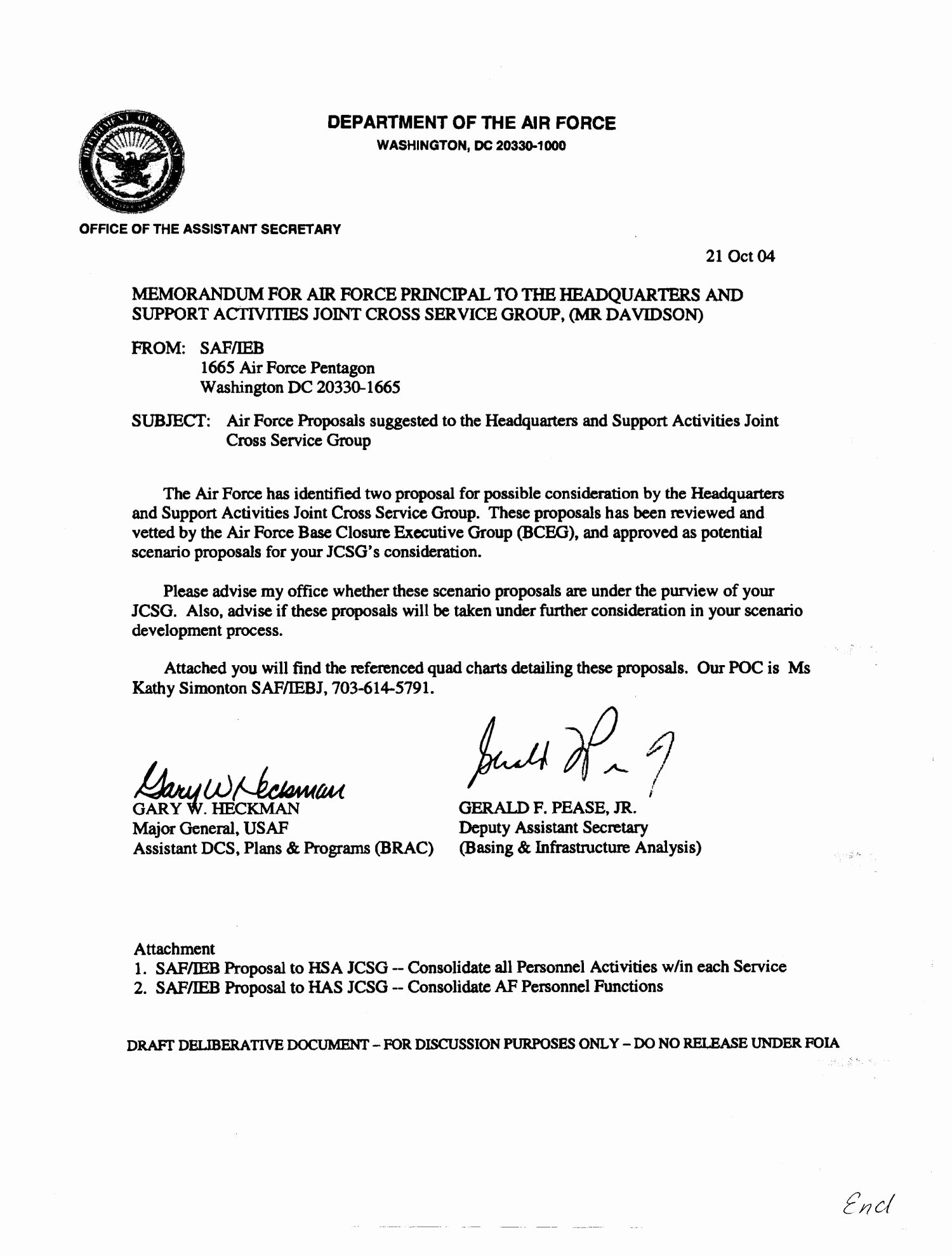 Air force Memorandum Template New Memo On Air force Proposals to Realign Military and