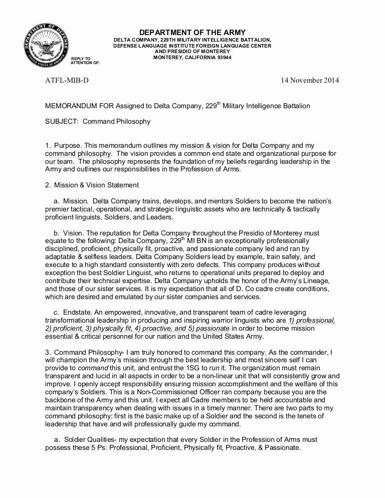 Air force Position Paper Template Beautiful Leadership Mander Philosophy