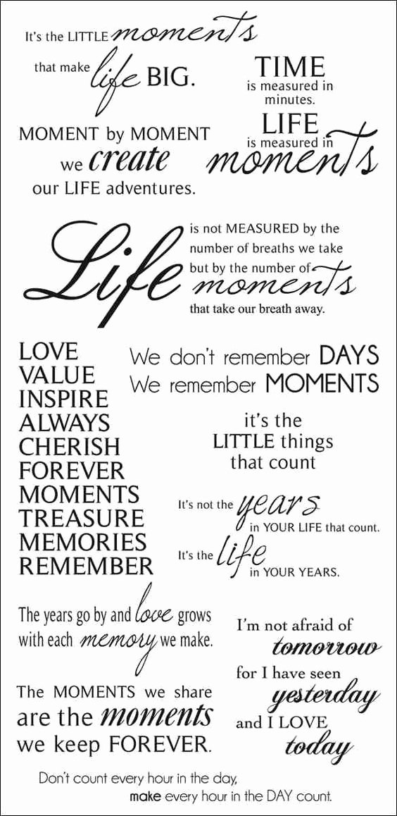 "Album Title In Quotes Lovely ""moments"" Quotes for Scrapbook Pages – Scrap Booking"